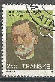 TRANSKEI, 1983, used 25c, Louis Pasteur. Scott 103