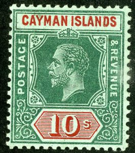 Cayman Stamps # 44 MLH VF 10 Shilling