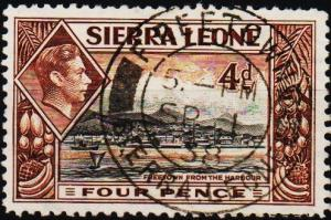 Sierra Leone. 1938 4d S.G.193 Fine Used