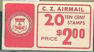 PANAMA CANAL ZONE - AIRMAIL STAMP BOOKLET 1970 scott C48