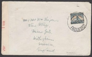 SOUTH AFRICA 1942 Censor cover - DURBAN / PAQUEBOT with Duban removed.......T452