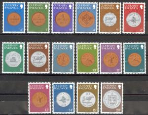 Guernsey Sc# 173-188 MNH 1979 Coins