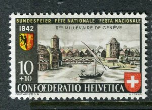 SWITZERLAND; 1942 National Fete Red & Fund issue fine Mint MNH, 10c