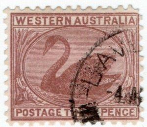 (I.B) Australia Postal : Western Australia 3d (SG 153)
