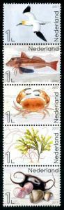 HERRICKSTAMP NEW ISSUES NETHERLANDS Marine Life Bird, Fish, Shells, Etc