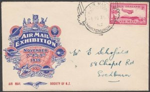 NEW ZEALAND 1938 Air Mail Exhibition - special cover and cancel.............M281
