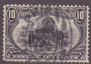 U.S. # 290, Trans Mississippi Ten cent, Used