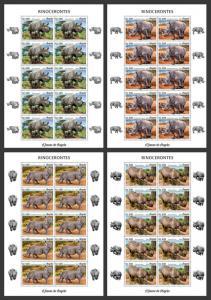 Z08 ANG18102c ANGOLA 2018 Rhinos MNH ** Postfrisch