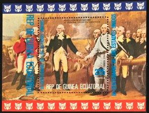Equatorial Guinea #MiBl174 MNH S/S CV€6.00 American Bicentennial Burgoyne