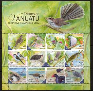 VANUATU SGMS1130 2012 BIRDS OF VANUATU MNH