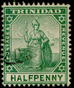 TRINIDAD AND TOBAGO SG133b, ½d blue-green, FINE used.