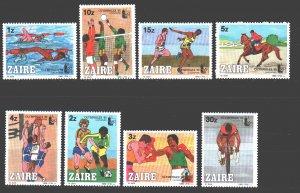 Kinshasa. 1985. 889-96. Olympfilex sport. MNH.