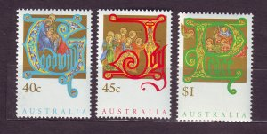 J23795 JLstamps 1993 australia set mnh #1354-6 christmas