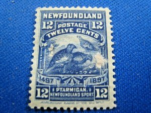 NEWFOUNDLAND  1897  -  SCOTT # 69   MH