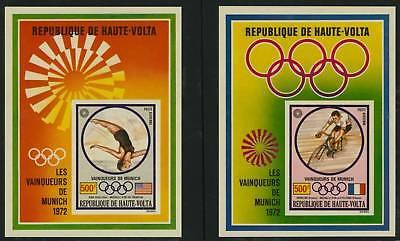 Upper Volta C124-6 imperf MNH Sports, Horse, Cycling