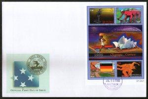 Micronesia 2000 Sydney Olympic Games Sport Sc 389 M/s FDC # 19154