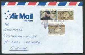 AUSTRALIA 1992 cover to Germany - nice franking - Sydney pictorial pmk.....12859