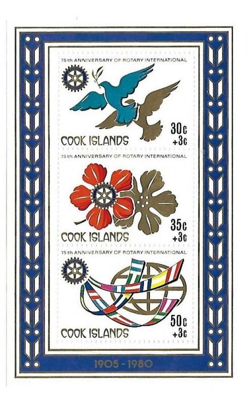 Cook Islands 1980 Rotary S/S MNH C2