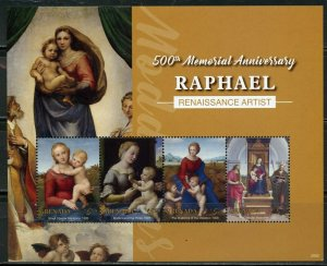 GRENADA 2020  500th MEMORIAL ANNIVERSARY OF RAPHAEL  SHEET MINT NH