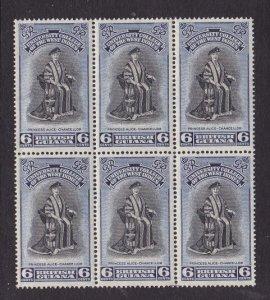 British Guiana 251, MNH Block of 6 - University Common Design