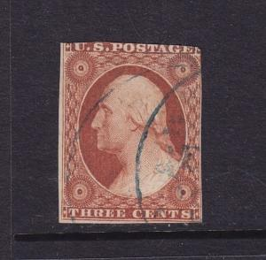10 F-VF used neat light cancel with nice color ! see pic !