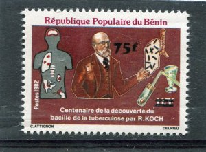Benin 1982 KOCH TUBERCULOSIS Ovpt. New value Perforated Mint (NH)