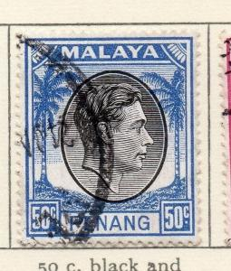 Malaya Penang 1949-52 Early Issue Fine Used 50c. 029259