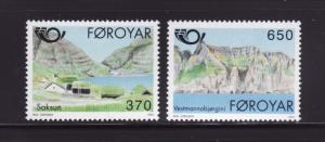 Faroe Islands 226-227 Set MNH Scenes