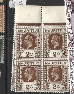 MAURITIUS (P0202B) KGV 2C  SG 224 BL OF 4  MNH
