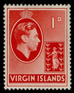 BRITISH VIRGIN ISLANDS GVI SG111, 1d scarlet, LH MINT.
