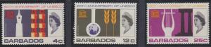 Barbados 287-289 MNH (1967)