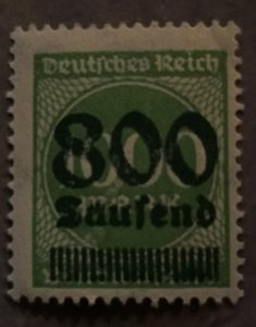 German Empire, 1918/23 inflation issues,800 T, faultless copy in perfect perfora