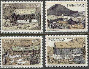 Faroe Islands 1992 #243-6 MNH. Farms, art
