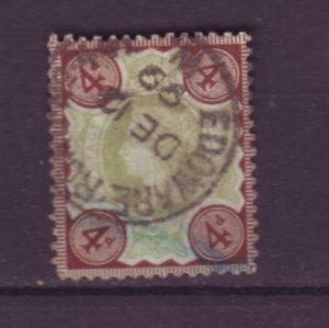 J22118 Jlstamps 1887-92 great britain used #116 queen
