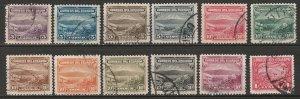 Ecuador 1934-45 Sc 321-30 complete set used