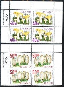 Iceland Sc# 898-899 MNH block/4 2000 Mushrooms