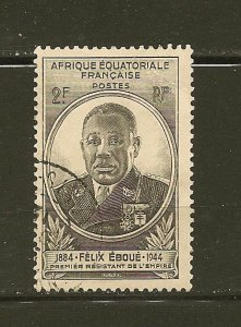 French Equatorial Africa 156 Eboue Used