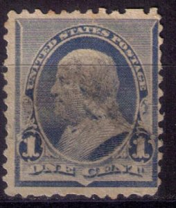 US Scott #219 Used Dull Blue F-VF