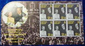 2007 Solomon Islands 1347KL 60 years of the wedding of Elizabeth II and Prince P