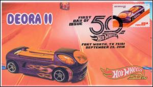 18-280, 2018, Hot Wheels, Pictorial, Postmark, First Day Cover, Deora II