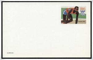 SC#UX80 10¢ Olympic Games: Sprinter Postal Card Mint