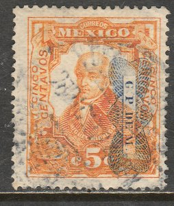 MEXICO 521Var 5¢ CORBATA REVOLUTIONAR INV OVERPRINT (READING DOWN) USED VF (29)