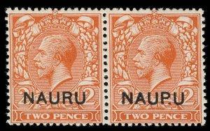 Nauru Scott 4 Variety Gibbons 4a Mint Stamp