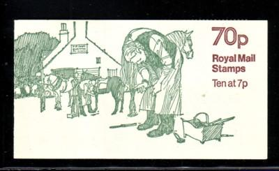 Great Britain Sc BK 326 10x MH61 in cpl booklet mint NH Horse Shoeing cover