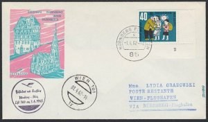 GERMANY 1962 Lufthansa first flight cover to Vienna Austria.................H288