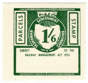 (I.B) Australia - Tasmania Railways : Parcels Stamp 1/6d