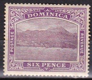 Dominica 1909 Scott # 42 Roseau Capitol MH aged gum
