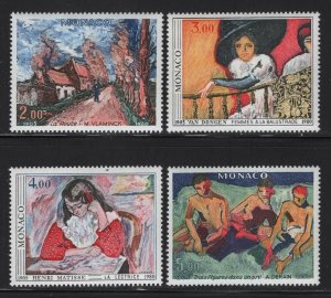 Monaco 1980 Paintings set Sc# 1242-45 NH