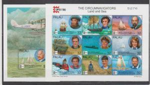 Palau 1996 ships submarine aviation klb+s/s MNH