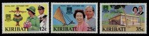 Kiribati 414-7 MNH Queen Elizabeth Royal Visit, HMS Britannia, Map, Dance